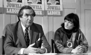 Denis Healey campaigning with Tessa Jowell in a by-election in Ilford North in 1978.