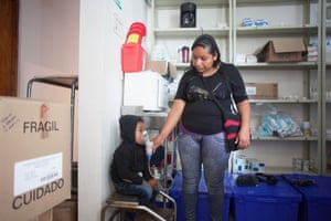 Sarai Felix, 23, with her three-year-old son Fredy, who has asthma.