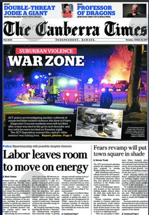 front-page the canberra times 19 oct 2017
