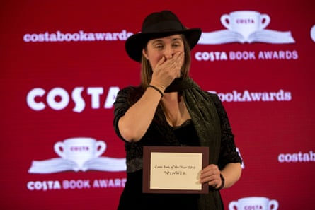 Who, me? Frances Hardinge reacts to her win at the Costa ceremony on 26 January.