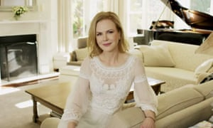 Nicole Kidman appears in a video on 22 July 2015 for Vogue America, wearing a dress inspired by Picnic at Hanging Rock.