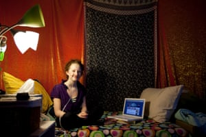 Esther Earl at home in 2010 … before she died, she arranged for emails to be sent to her imagined future self.