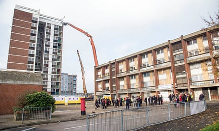 Demolition of the notorious Mardyke estate, the setting for Made In Dagenham and Fish Tank.