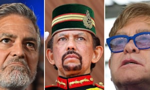 Celebrities such as George Clooney, left, and Elton John, right, led a backlash against the sultan of Brunei's decision to rollout draconian anti-gay laws.