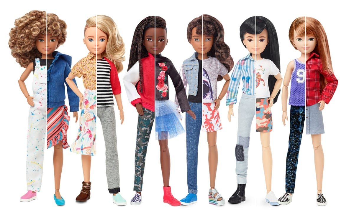 It Was Time Maker Of Barbie Launches Line Of Gender Neutral Dolls Toys The Guardian
