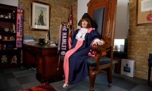 Catherine Rose, mayor of Southwark and Dulwich Hamlet fan.