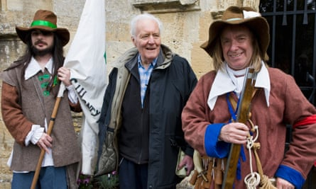 The late Tony Benn at the Levellers parade in Burford, Oxfordshire