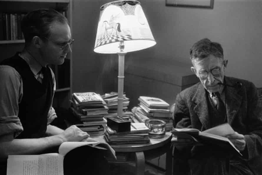 Leonard Woolf, pictured reading with the poet John Lehmann, who was managing director of the Hogarth Press between 1938 - 1946.