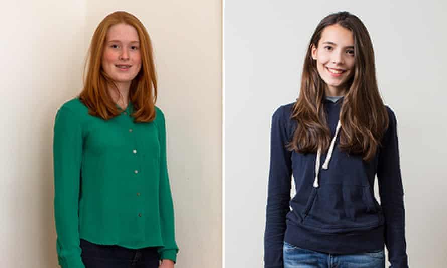 Lara Brown, left, and Grace de Souza, both 14.