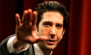 David Schwimmer performs a scene from the production Some Girls at the Gielgud Theatre in London, May 19, 2005