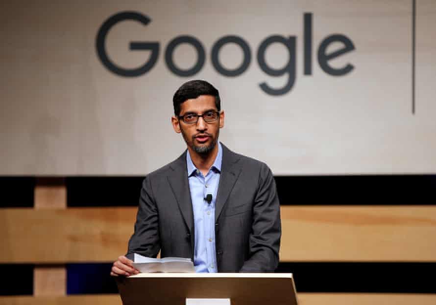 Pichai, the CEO of Google, which had $162bn in revenues last year.