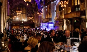 Guests at the 2012 Man Booker prizegiving ceremony at the Guildhall in London.