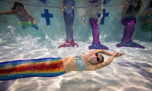 A mermaid training school in Bournemouth. The sirens of mythology are surfacing in film and books,  archetypes of assertive, confident women.