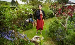 Barney Bardsley in her garden in Leeds.