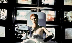 David Bowie as the alien in Nicolas Roeg's The Man Who Fell to Earth, 1976.