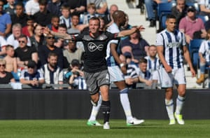 Southampton's Jordy Clasie celebrates after opening the scoring at the Hawthorns.