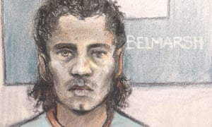 A court artist's sketch of Ahmed Hassan Mohammed Ali,18.