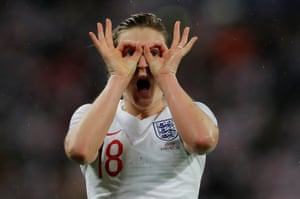 Ellen White celebrates scoring England's equaliser.