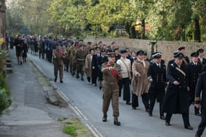 Second world war re-enactors attend the 25th Railway in Wartime event along the line of the heritage North Yorkshire Moors railway in Pickering.