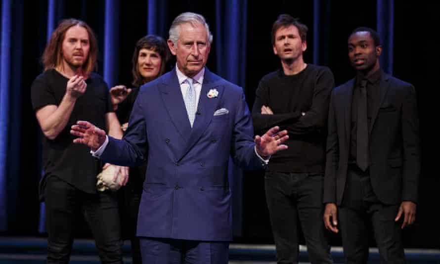 Prince Charles on stage