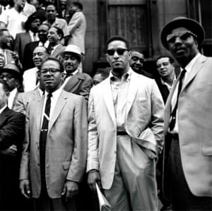 From left; Benny Golson, Sonny Rollins, Thelonious Monk
