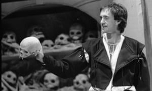 'It's an extraordinary play to perform' … Jonathan Pryce in Hamlet at the Royal Court, London, in 1980.