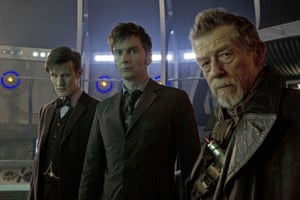 Matt Smith, David Tennant and John Hurt during the 50th anniversary episode of Doctor Who, Day of the Doctor, 2013