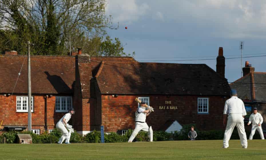 Hambledon Cricket Club third XI bat against Portsmouth third XI in a Hampshire League match at Broadhalfpenny Down.