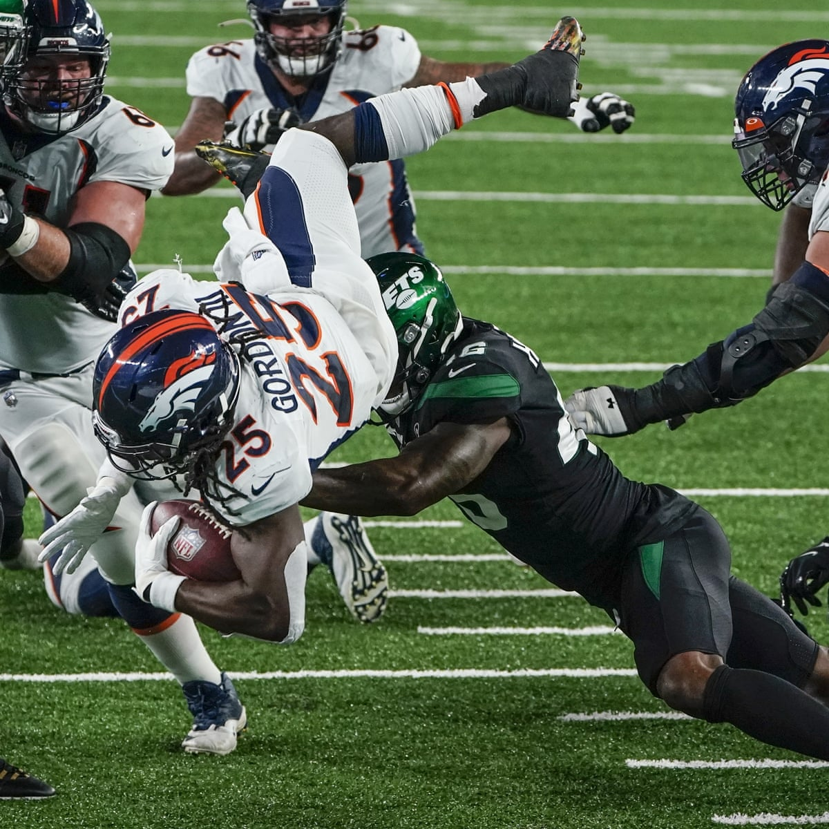 Denver Broncos Earn First Win Of Season As Lowly New York Jets Fall Again Nfl The Guardian