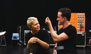 Eliza Scanlen as Eric and Daniel Monks as Roger in rehearsal for Lord of the Flies