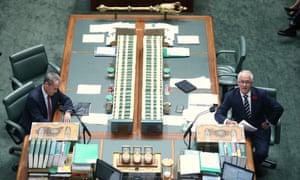 #qt on the #qt: Malcolm Turnbull and Bill Shorten.