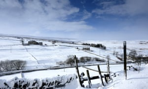 Allenheads in Northumberland after heavy snow.