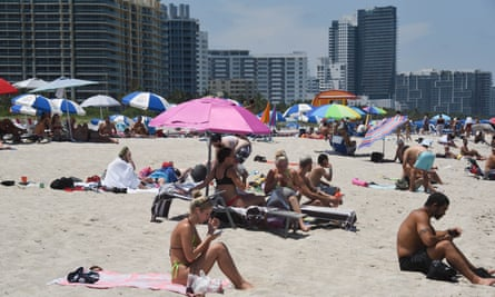 Beaches reopen, in Miami, Florida, on 10 June.