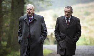 Timothy Spall and Colm Meaney as Ian Paisley and Martin McGuinness in The Journey.