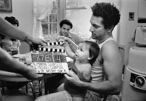 Robert De Niro filming Raging Bull