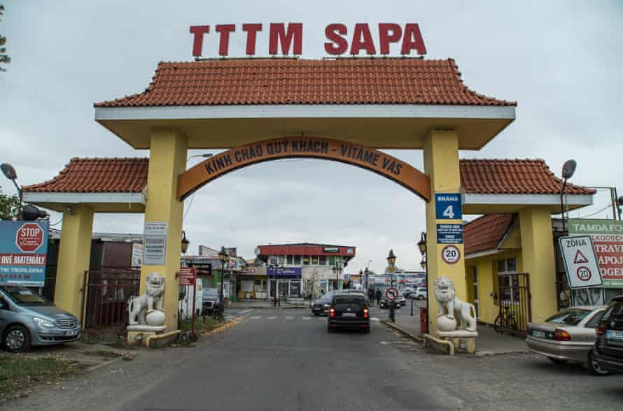 Between the Prague quarters of Pisnice and Libus is the large Vietnamese TTTM Sapa marketplace, also known as 'little Hanoi'