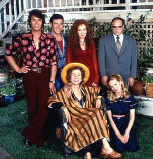The cast of the first series of Tales of the City in 1993.