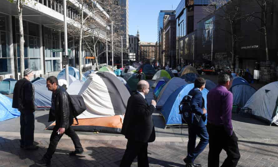 Tent city in Sydney's Martin Place