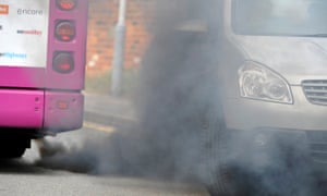 Diesel fumes from cars and bus