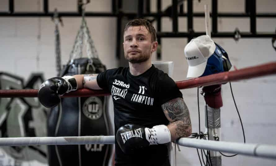 Carl Frampton in training for his fight against Jamel Herring.