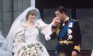 The wedding of Prince Charles and Lady Diana Spencer in 1981.
