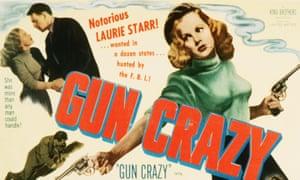 Peggy Cummins on the Gun Crazy poster
