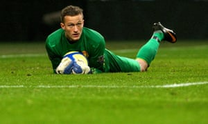 Anders Lindegaard in his days at Manchester United.