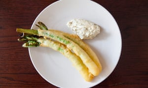 'Punchy with mustard': leeks with a sauce gribiche.
