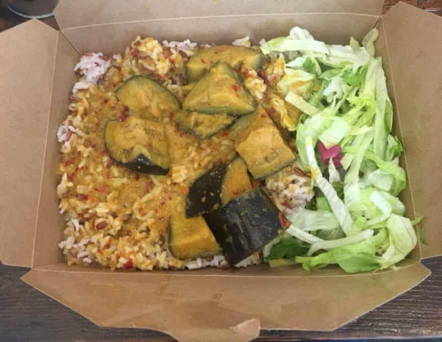 1 Haven't met Ken yet, but I'm a massive fan of this soothing aubergine coconut milk curry with a mountain of rice at Ken's Kitchen in Shoreditch, east London. Basically a warm hug in a box. Thanks, Ken.