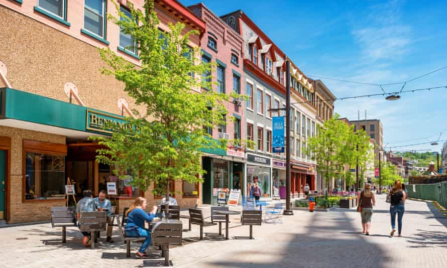A view of downtown Ithaca New York state