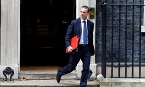 Alun Cairns, the secretary for Wales, in Downing Street