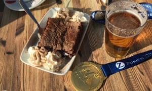 Beer and cake. The celebration and recovery fuel of champions.