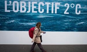Paris climate 2015 poster: 'L'OBJECTIF: 2c'