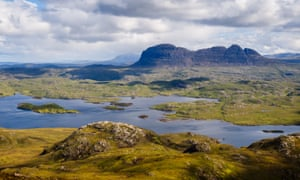 The wilderness of Assynt in Sutherland, northern Scotland.